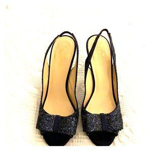 """Kate Spade """"Charm"""" heels in Navy"""
